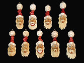 Small Santa Carvings
